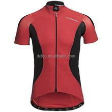 Sublimation Printing Men's Cycling Jersey With Silicon Trim and Reflective Rear Zippers