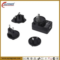 5V2A interchangeable UL FCC CE GS SAA C-TICK AC to DC SWITCHING POWER Adapter with different plugs