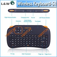 2015 new S1 Mini Wireless Keyboard S1 air mouse air fly mouse 2.4G with Touchpad for MINI PC android tv box