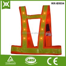 flash oem supply cheaper high quality reflective LED vest