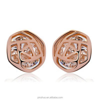 18 k gold jewelry,rose gold ladies earrings designs pictures