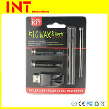 Refill 510 wax disposable e cigarette vaporizer pen empty wax cartridge