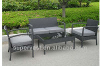 5 Piece Outdoor Wicker Patio Coffee Table Set