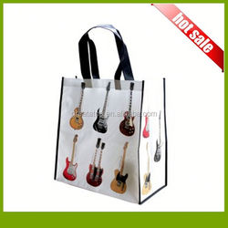 Flat Bottom Shopping Bag/Cheap Logo Shopping Tote Bags/Decorative Reusable Shopping Bag