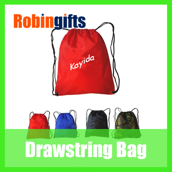 Promotional polyester drawstring bag/drawstring backpack/ draw string bag