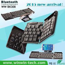 2015 nuevo diseño inalámbrico teclado plegable para el ordenador portátil, PC de un teclado del ordenador con precio de fábrica
