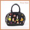 2015 Newest Product Printed PU Handbag Small Size Tote Bag