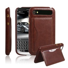 Mobile Accessories Leather Mobile Phone Back Cover Cases for BlackBerry Classic Q20 with Stand Function