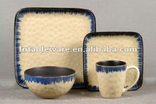 JHY-205 Reactive Glaze Square dinnerware set