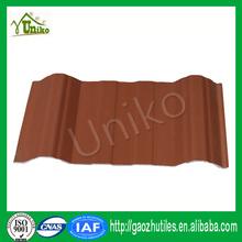 Negro barato profesional corrugado estable dimensión de sonido de plástico a prueba de casa de techos para cobertizo