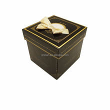 2015 flashing black color with bow decoration packaging boxs