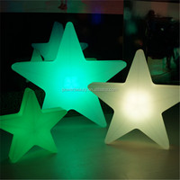 Outdoor color changing plastic glowing led decorated lighting star