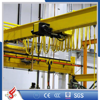 Euro Type and Low Clearance Single Girder EOHT Bridge Crane For Factory or Workshop
