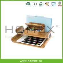 Versatile bambu deluxe desktop organizer - HOMEX - FSC / BSCI