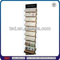 TSD-W835 Custom free standing wooden card spinner stand,swivel display rack,swivel display stands