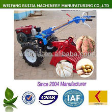 GOOD QUALITY NEW MADE POTATO / SWEET POTATO / GARLIC HARVESTER FOR SALE, WALKING TRACTOR WITH HARVEST MACHINE~