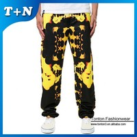 heat transfer colored custom print joggers pants