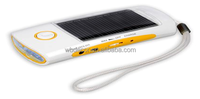Multifunctional mini solar charger for mobile phone with torch and radio