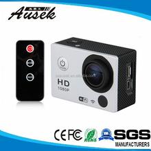 2.0 Inch wifi Gopros motorcycle helmet video camcorder full hd 1080p H.264 waterproof case