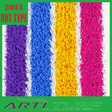 colorful rainbow with white line high quality Christmas decorations artificial grass for playground/indoor landscaping