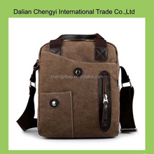 factory oem men canvas sling bag with zipper puller