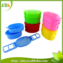 2015 latest style colorful two layeres plastic lunch box with compartment