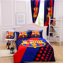 Football Team Comforter 100% polyster bed sets include Duvet Cover Bed sheet Pillowcase Twin Full size for single bedding set