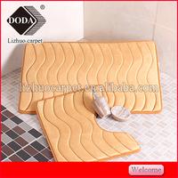 Washable rug sets,bathroom mat set,microfiber bath rug set