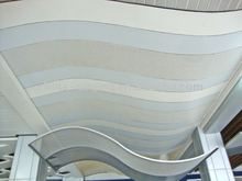 Suspended curved/perforated aluminum strip ceiling panel(ISO9001)