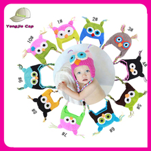 Crochet baby hat Infant Cute Hot sale Custom High quality new fashion crochet owl beanie hat Toddler crochet hat for sale