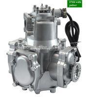 Fuel dispenser flow meter with pulser