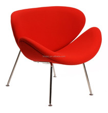 Modern Style Metal Egg Chair with metal chorme plated frame with high density foam cushions and high grade fabric covers