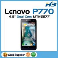 Original Lenovo p770 MTK6577 Dual core smart phone 4.5inch QHD 1GB RAM Android4.1 GSM WCDMA Russian Language