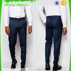 Men's Trousers stripe design pants for man suits pants wholesale