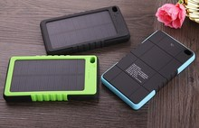 2015 New Product 8000mAh Waterproof Solar Power Bank, Solar Mobile Charger