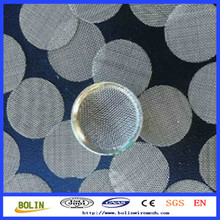 stainless steel/brass/titanium filter screens for smoking glass pipe