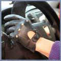 black leather dedos luvas acessóriosdebicicletas