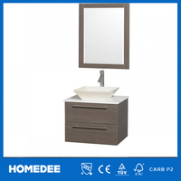 hot sell wall modern bathroom cabinet with towel rack and mirror