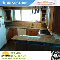 KC-307 IKEA STONE Giallo Fiorito Granite Beautiful Kitchen Countertops Pictures For Project