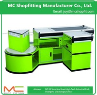 Reasonable Price Electric Supermarket Used Checkout Counter With Belt