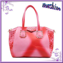 2015 New Products China Candy Brand Stylish Wholesale Women PU Tote Bag for Shopping
