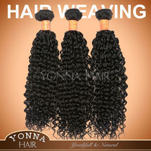 Super quality hot selling kinky curl remy velvet hair weave