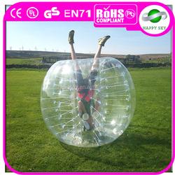 2015 Hot Sale PVC/TPU bumper bubble ball,plastic bumper ball,zorb football