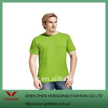 Popular Plain green Men's O-neck T shirts,made of 100% cotton