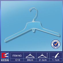 Hot sale plastic shirt hanger with metal hook for drying clothes C10