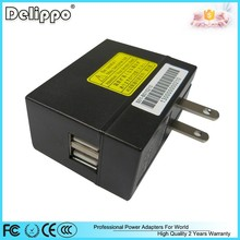 Ce rohs fcc ccc 5v switch mode power supply 2a dc output dual usb outlet adapter