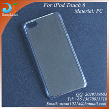 Hot sales crystal PC waterproof case for iPod Touch6