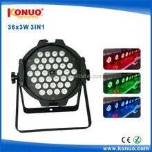 Hot stable quality 36x3W RGB 3 in 1 LED par lights /dmx512 led par 64 36 x 3W