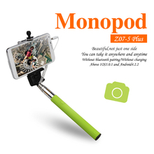 Smart phone camera wired Selfie Stick Handheld Monopod Built-in Shutter Extendable + Mount Holder For iPhone Samsung