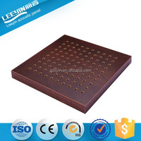 Foshan Factory Fireproof MDF Wood Perforated Acoustic Panel